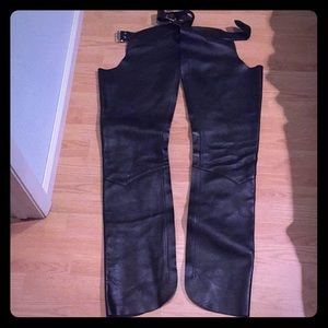 Other - Chaps black leather small genuine very clean